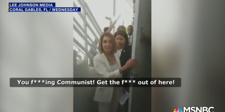 Pelosi faced vocal attack, then Trump called Dems 'an angry mob'