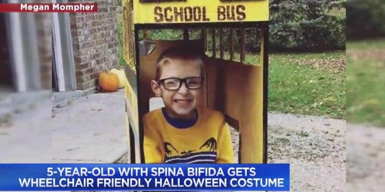 5-year-old with spina bifida gets wheelchair friendly Halloween costume