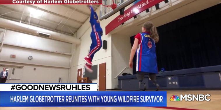 #GoodNewsRUHLES: Harlem Globetrotter reunites with young fan