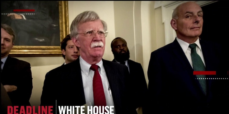 What sparked Bolton and Kelly's profane West Wing dust-up