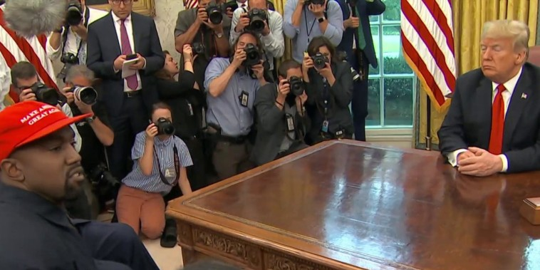 """""""'This is not normal': Trump & Kanye in the Oval Office"""""""