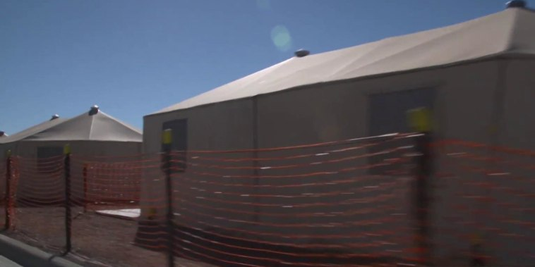 A rare look inside the vastly expanded tent city at U.S.-Mexico border
