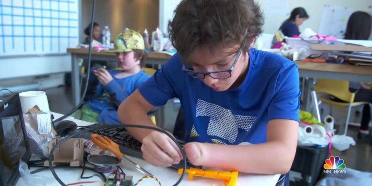 This program empowers kids by helping them create 'superhero' prosthetics
