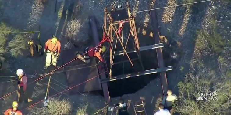 Man rescued after three days at bottom of Arizona mine shaft