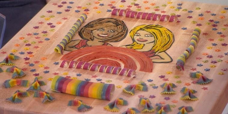 See KLG and Hoda rendered in beautiful pasta artwork