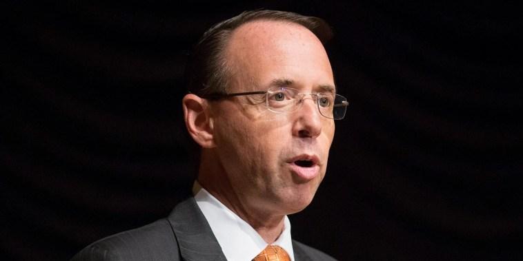 Rod Rosenstein defends Russia probe as 'appropriate'