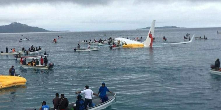 New video of Micronesia plane crash