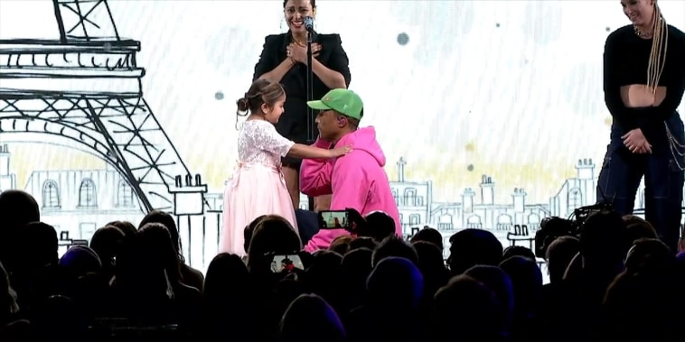 Children's Hospital LA patient steals show – and Pharrell's heart – at gala