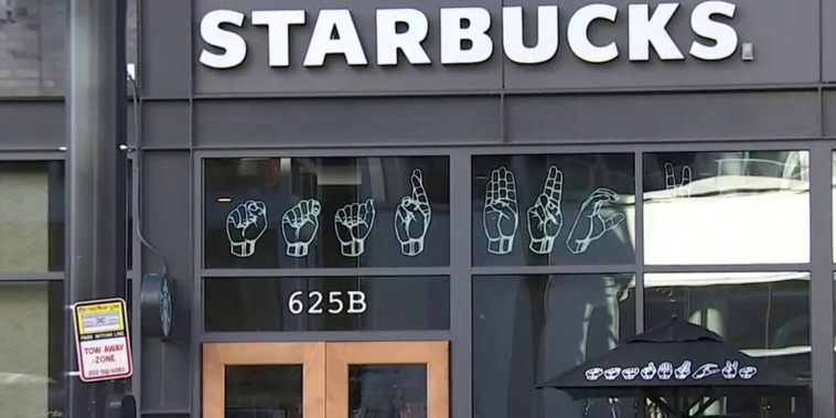 Starbucks opens 1st U.S. sign language store