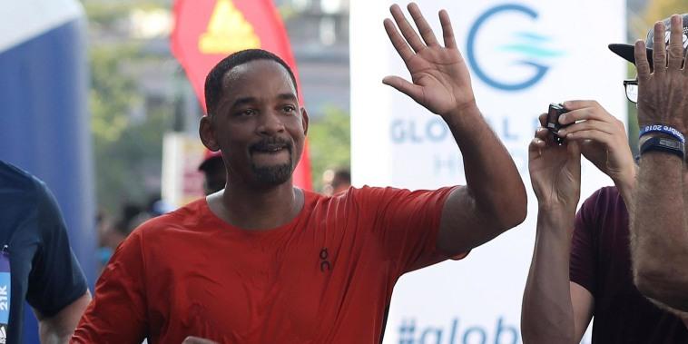 Will Smith runs Havana half marathon to mark 50th birthday