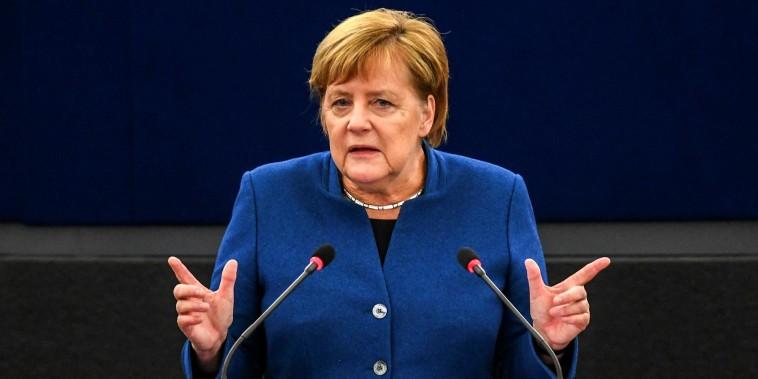 Merkel calls for creation of a 'true European army'