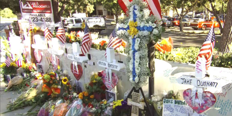 Community grieves Thousand Oaks shooting with white wooden crosses