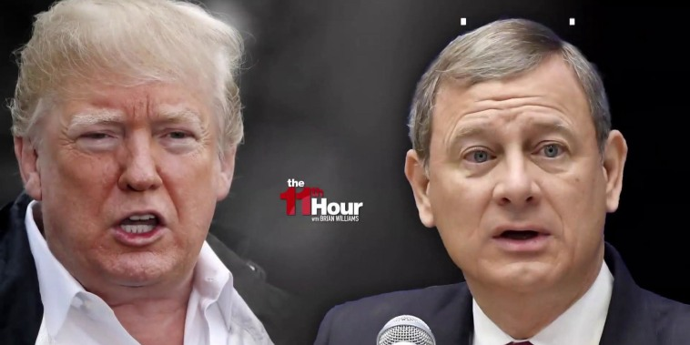 Trump and Chief Justice go head-to-head over judicial independence
