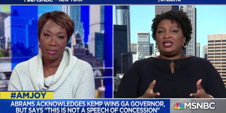 Stacey Abrams: I think we have watched the systematic erosion of our Democracy