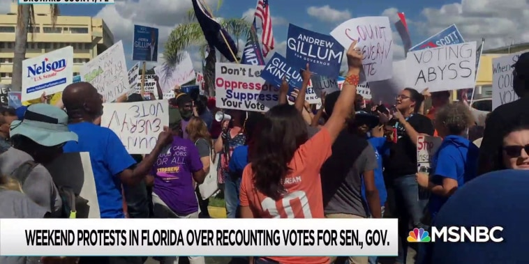 Florida election moves to courthouse as counting continues