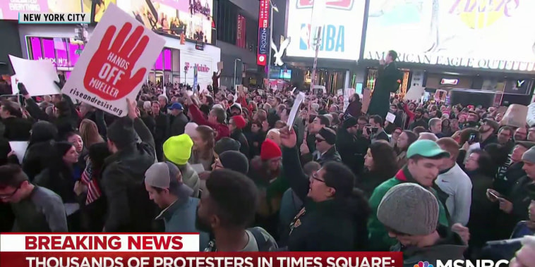 Sensing Trump threat, widespread protests call to #ProtectMueller