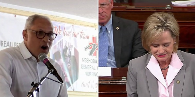 Mississippi Sen. Hyde-Smith caught on video joking about 'public hanging'