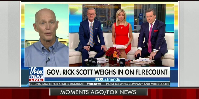 Rick Scott again claims fraud in the Florida race