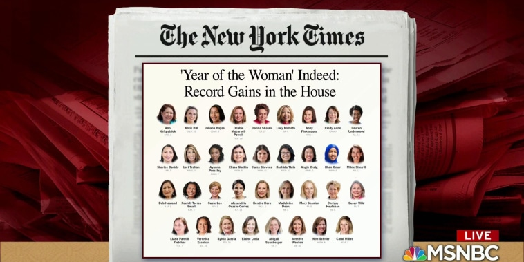 A record number of women elected to the House