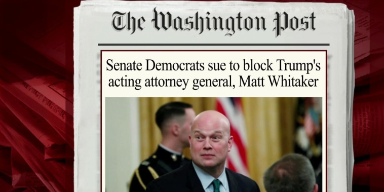 Senate Dems sue over Whitaker appointment