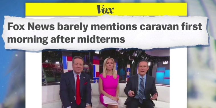 Fox News' coverage of the caravan drops after midterm election