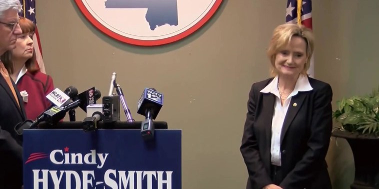 Cindy Hyde-Smith repeatedly refuses to elaborate on 'public hanging' comments