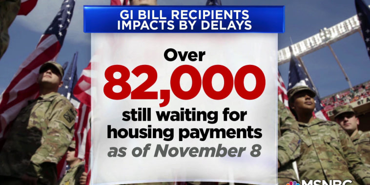 As VA struggles to administer GI Bill benefits, veterans suffer financially