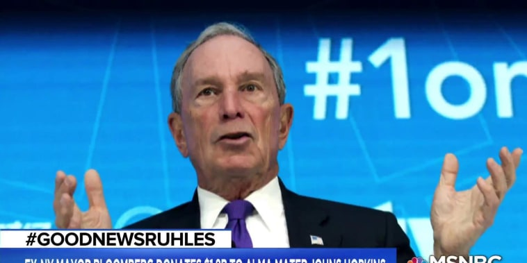 #GoodNewsRUHLES: Mike Bloomberg donates $1.8B to Johns Hopkins