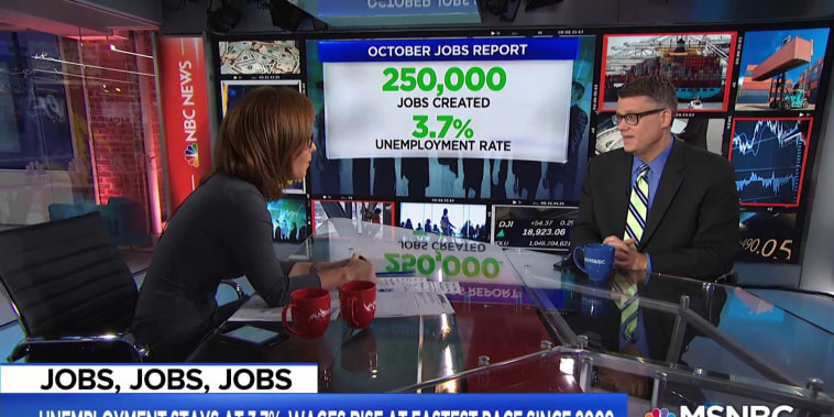 250,000 jobs added in the U.S. in October and wages rise