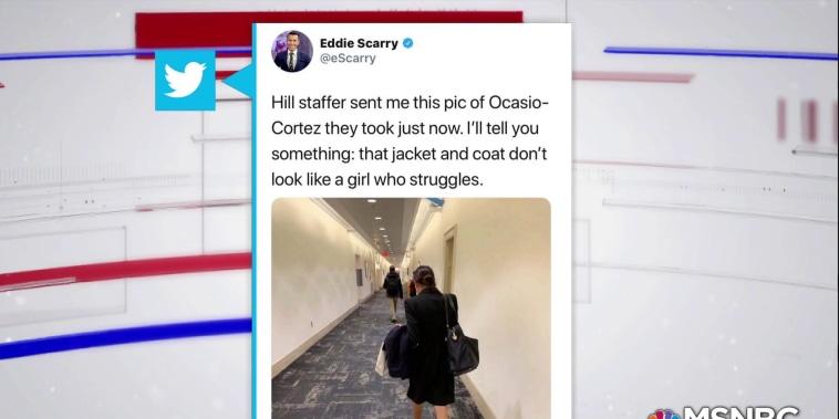 Reporter on Twitter criticizes Alexandria Ocasio-Cortez's wardrobe