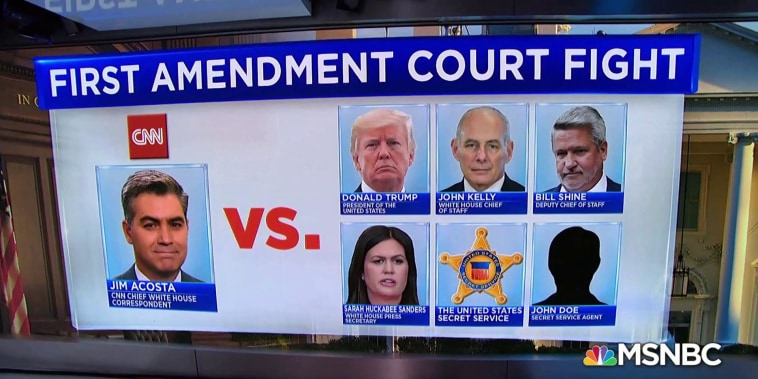 CNN is suing the president