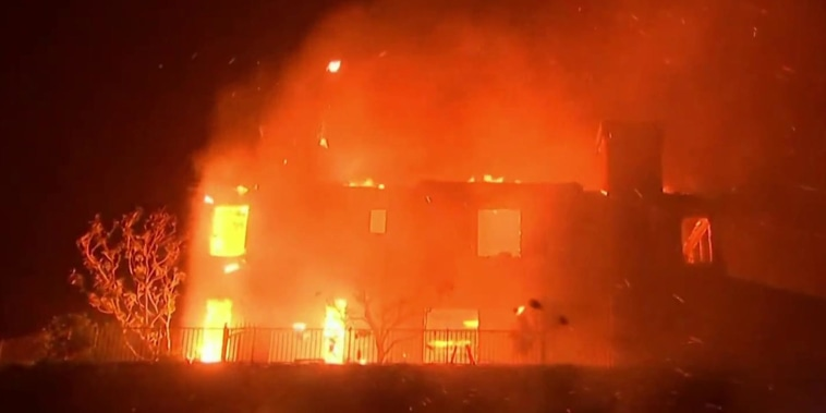 Evacuations and destruction as deadly wildfires blaze in California