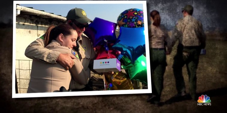 Colorblind deputy sees color for first time