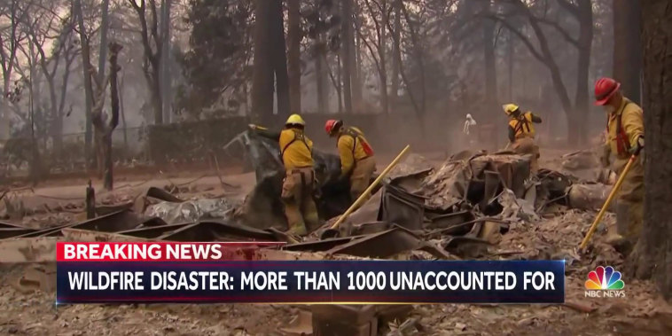 More than 1000 missing in Northern California wildfire