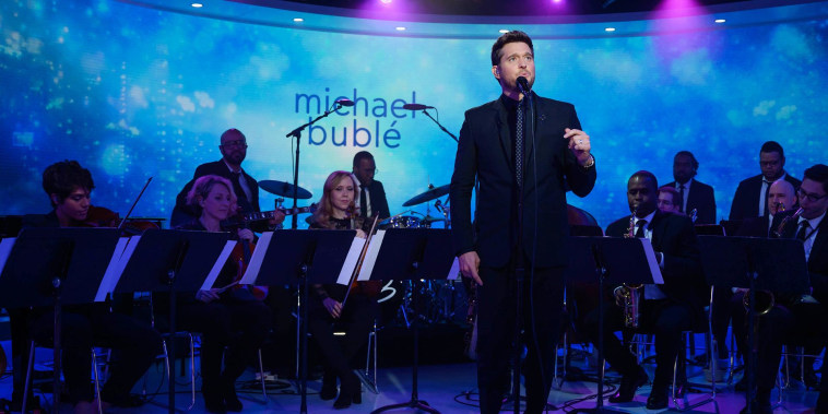 Michael Buble performs 'I Only Have Eyes For You' on TODAY
