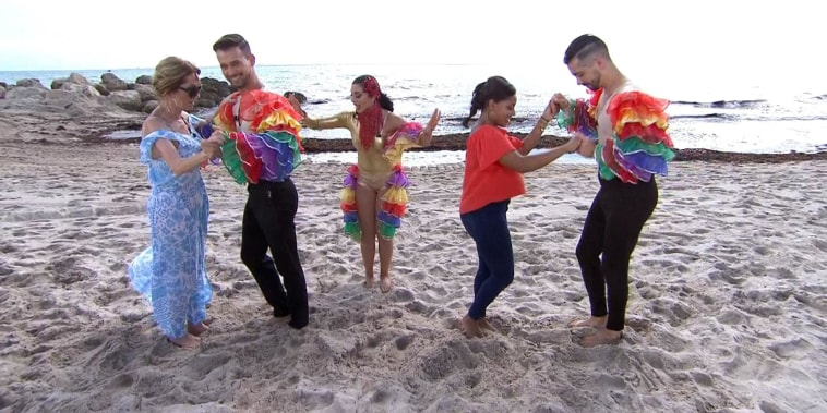 See KLG and Sheinelle learn how to salsa dance