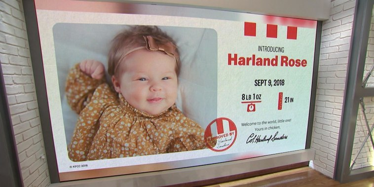 KFC gives parents $11K for naming newborn after Colonel Sanders