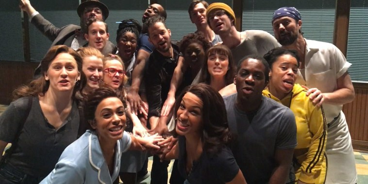 Sara Bareilles and the cast of 'Waitress' celebrate Al Roker