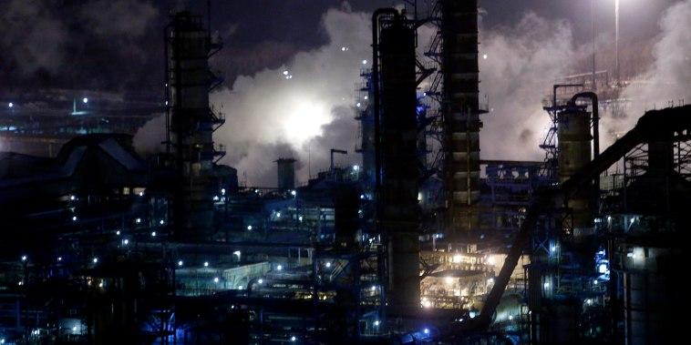 A general view of the Bashneft-Ufaneftekhim oil refinery is seen outside Ufa, Bashkortostan