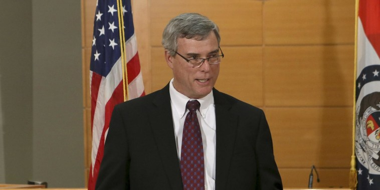 Prosecutor Bob McCulloch announces the grand jury's decision not to indict Ferguson police officer Darren Wilson in the shooting death on Michael Brown.