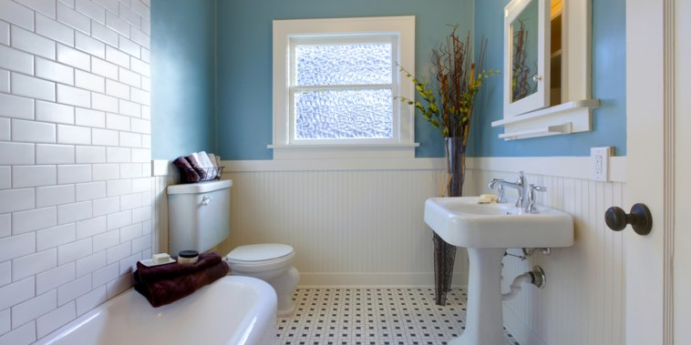 Green blue antique Luxury bathroom in an old house in Tacoma, WA; Shutterstock ID 71616208; PO: TODAY.COM