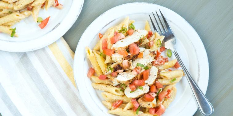 Healthier Cajun chicken pasta recipe