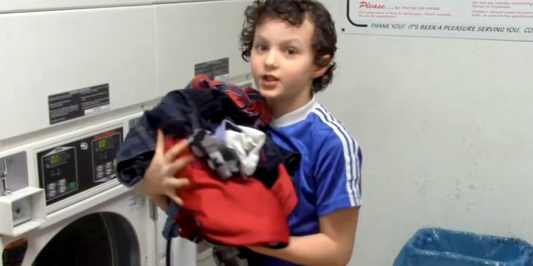 IMAGE: Son doing laundry