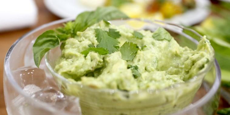 Healthy avocado dip
