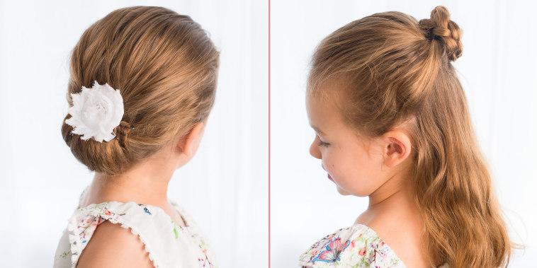 flower braid and chignon hairstyles