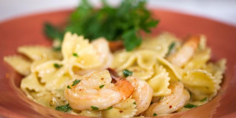 Shrimp pasta