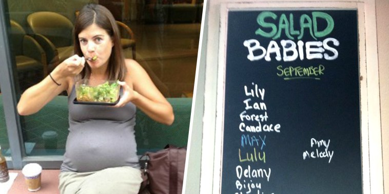 salad from a pizza restaurant in LA that claims to make women go into labor