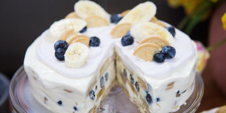 No-Bake Blueberry and Banana Icebox Cake