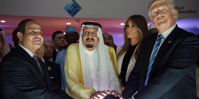 Image: Trump, King Salman, al-Sisi open the World Center for Countering Extremist Thought