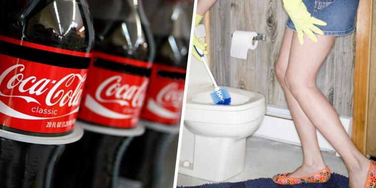 coke cleans toilets